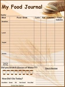 food journal template word