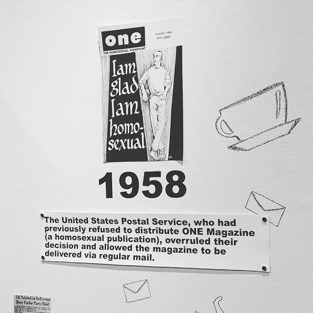 A look back from the current educational timeline at the LA LGBT Center... Come celebrate freedom from censorship at #wehoreads #bannedbooks on 9/26 at the #weholibrary - more info at www.weho.org/arts #wehoarts