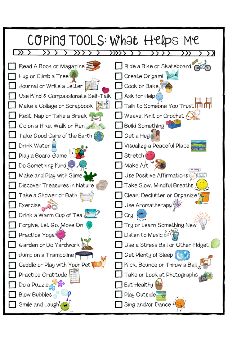 worksheet Coping Skills Worksheets For Adults kids coping skills school counseling lesson posters art sorting for checklist a fun worksheet to help young people build