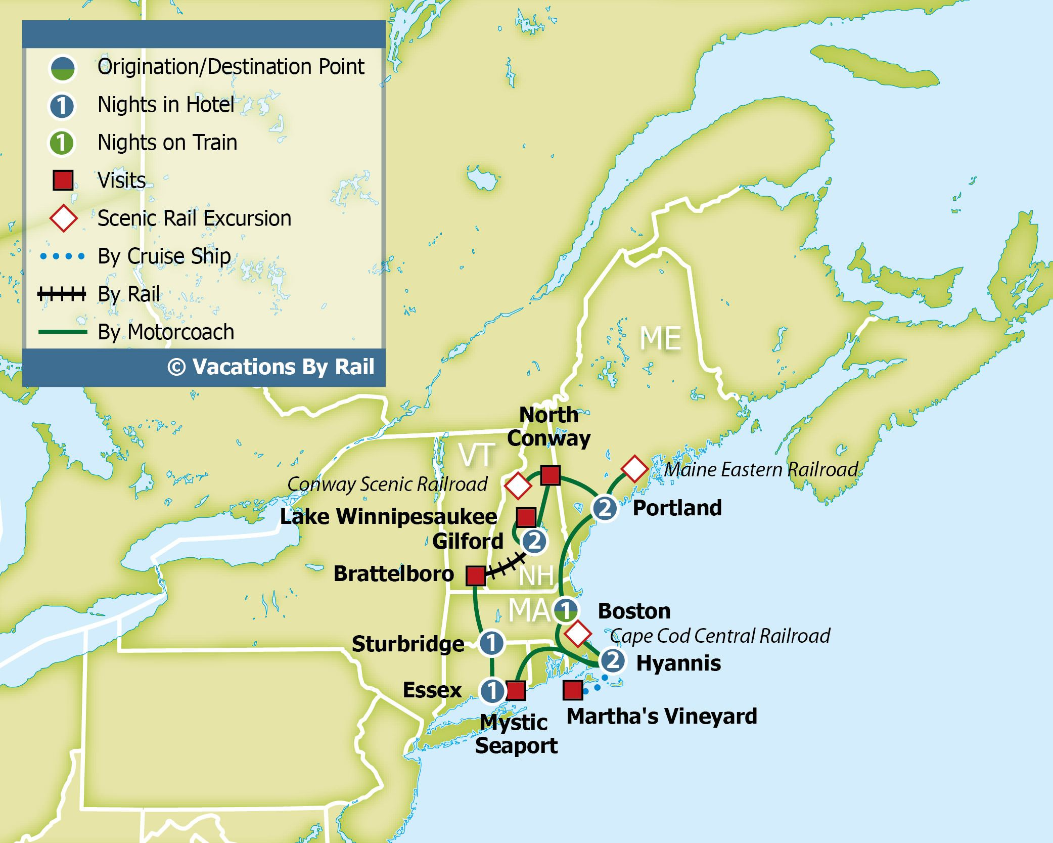 Fall Colors Scenic Trains Martha S Vineyard Where You Will