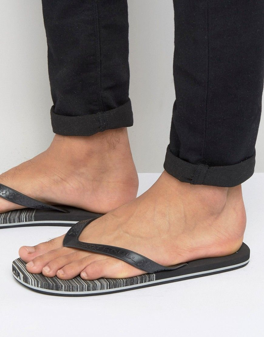 2b60c7873b3f67 Get this O neill s flip flops now! Click for more details. Worldwide  shipping. O Neill Profile Marble Flip Flops - Black  Shoes by O Neill
