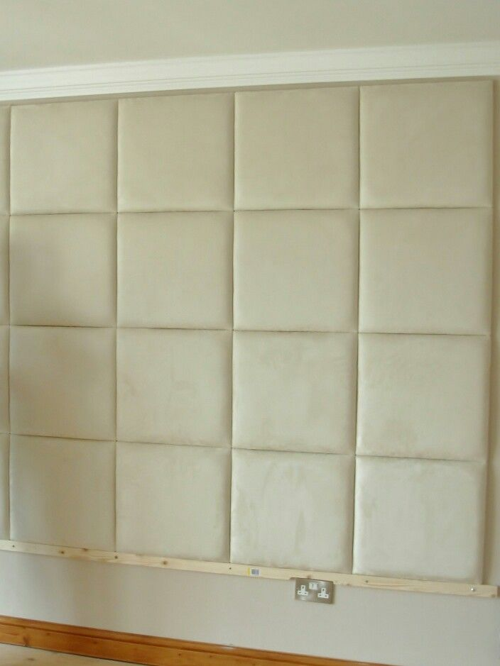 Putting them up ! | Padded Wall Tiles - DIY | Pinterest | Bedrooms ...
