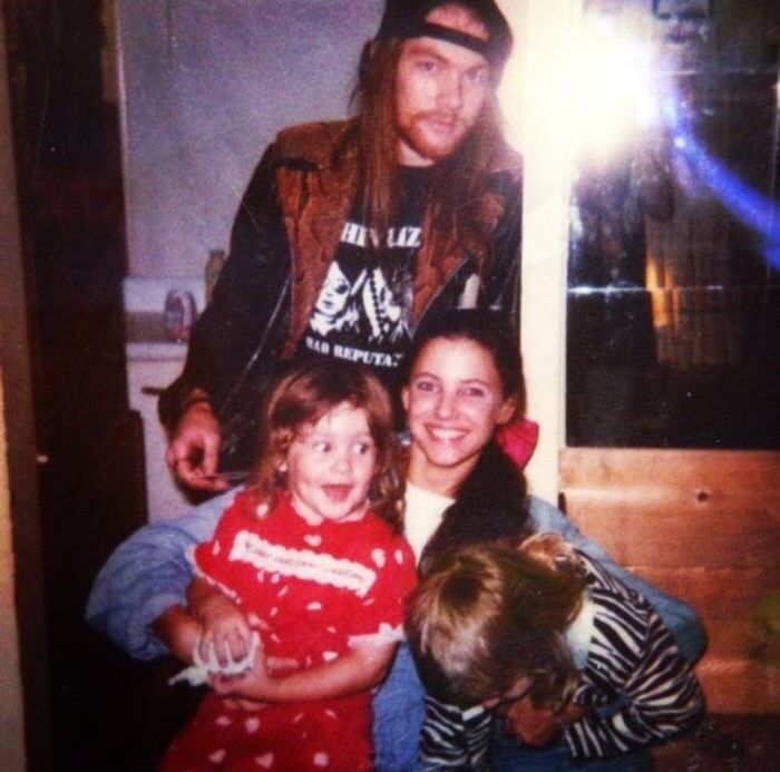 Axl Ros With Ex Wife Erin Everly And Kids Guns Nroses Axl Rose