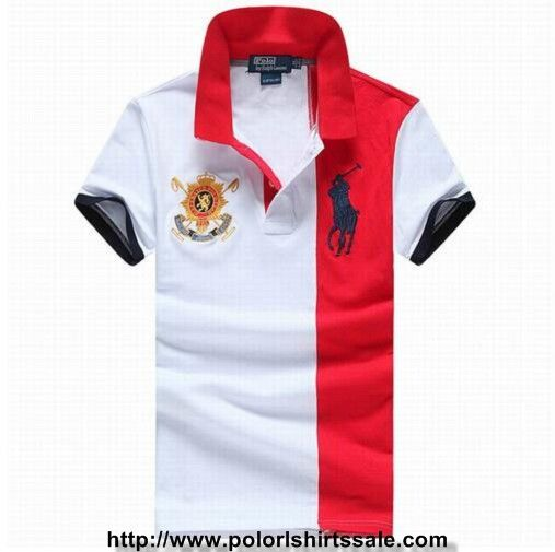 3f1b5b3ef Mens Polo Ralph Lauren Slim Fit Big Pony Striped Shirts White Red Sale  Clearance