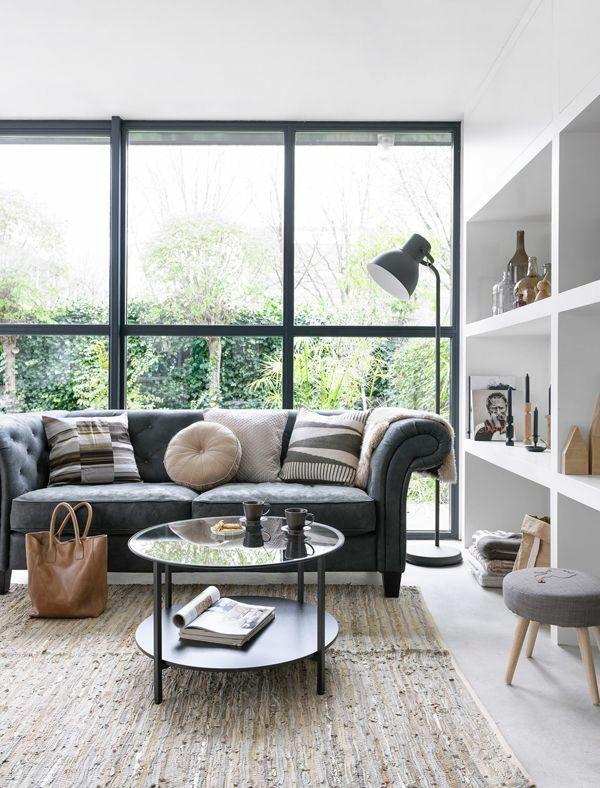 Fantastisch Wohnzimmer Fenster Gestaltung Ideen Bilder Design Wandregale