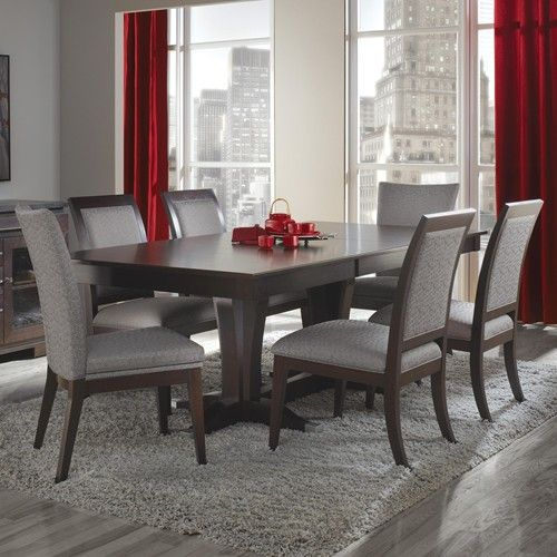 Casual Dining Room Ideas With Couches: Canadel Custom Dining Customizable Rectangular Table With