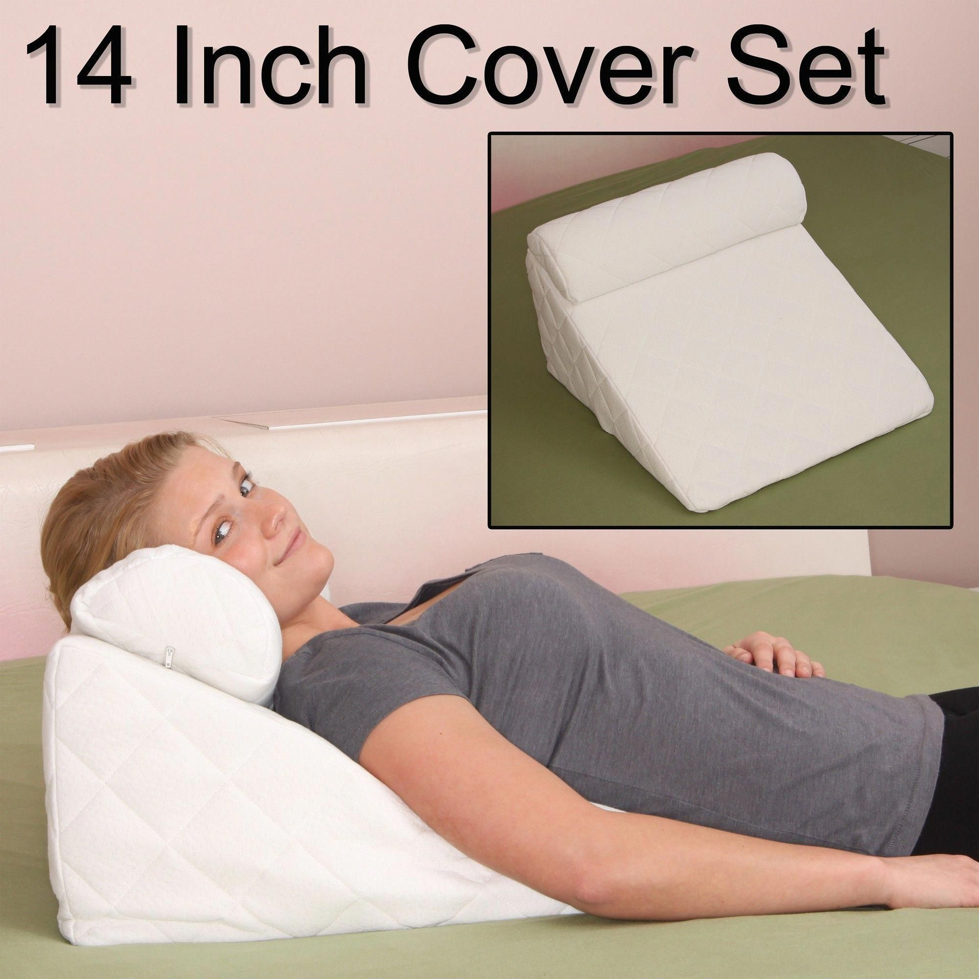Acid Reflux Pillow 383 Thread Count Soft Padded Cover For Acid Reflux Pillow