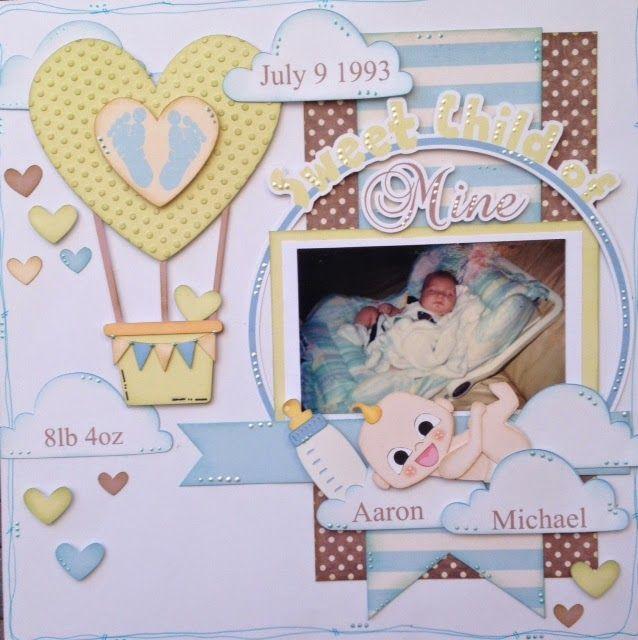 Nanne S Creations Baby Shower Blog Hop Pppr Kids Scrapbook Baby Boy Scrapbook Blog Hop