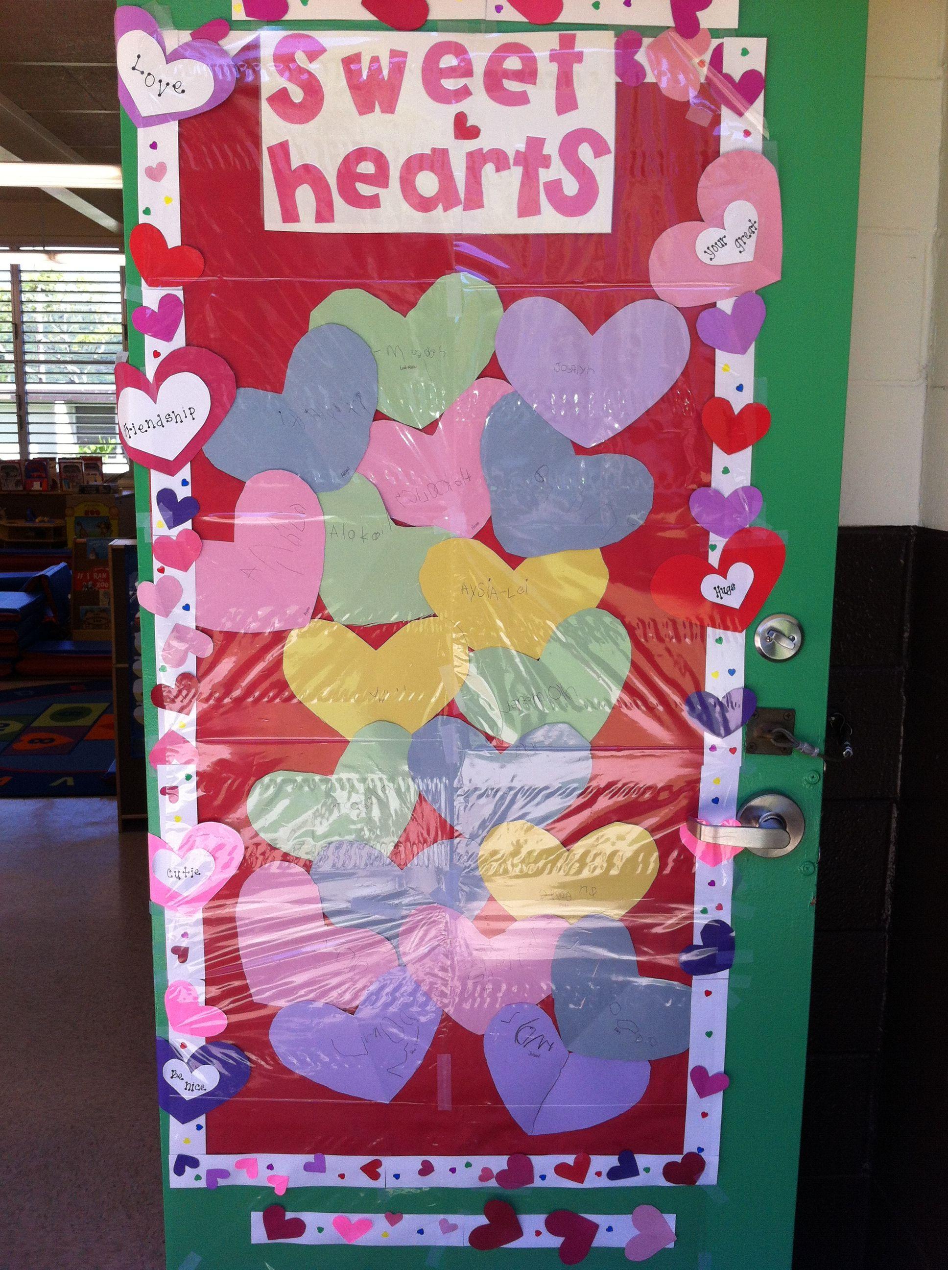 Preschool Valentines Door Decoration Crafting Goodies Preschool