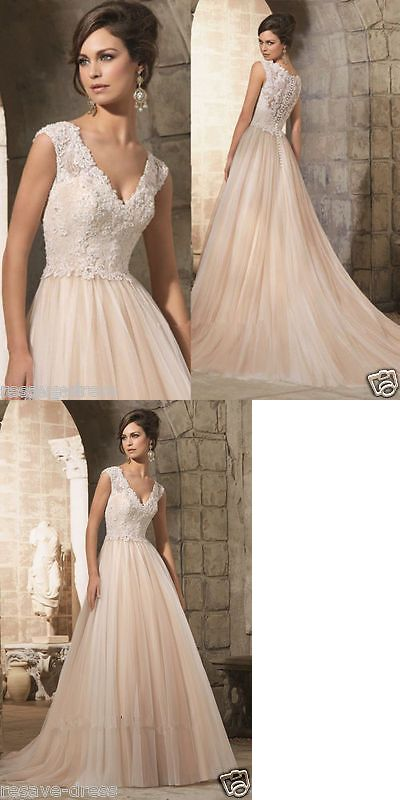 41c83e71741 Wedding Dresses  New White Ivory Lace Bridal Gown Wedding Dress Size 6 8 10