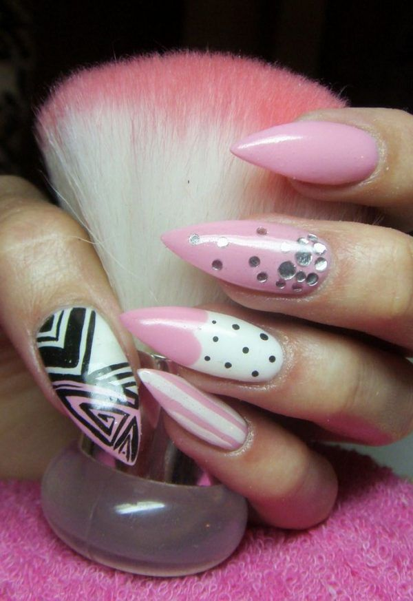 10 Fearless Stiletto Nail Art Designs 2016 Swag Nails Pink Nails Stiletto Nails Designs