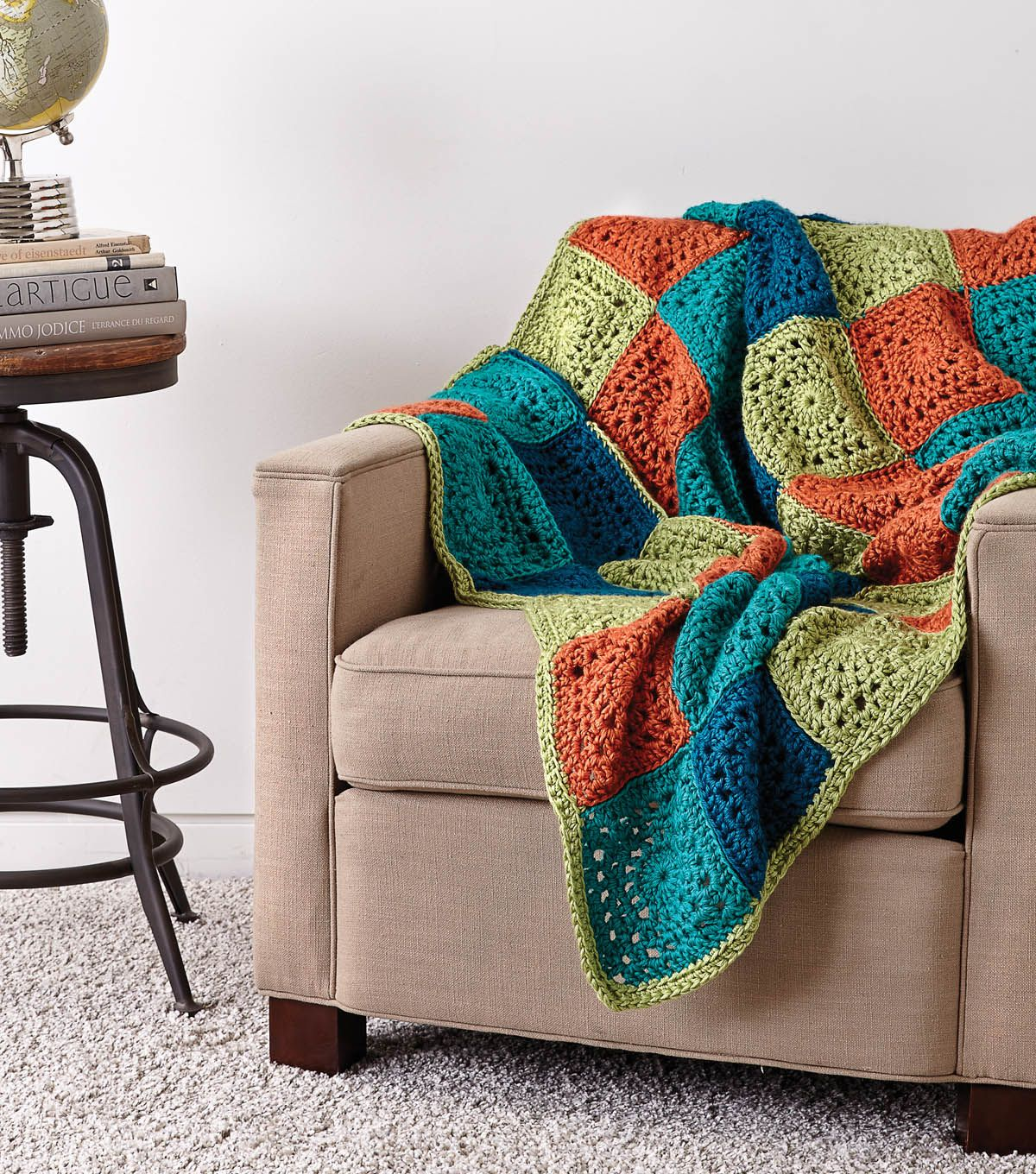 Free Fall Crochet Afghan Patterns | Patchwork blanket, Free crochet ...