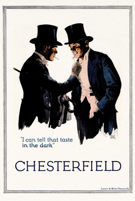 """I can tell that taste in the dark"" J.C. Leyendecker"