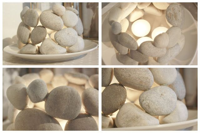 Do It Yourself Home Design: Homemade Stone Candle Holder (projects, Crafts, DIY, Do It