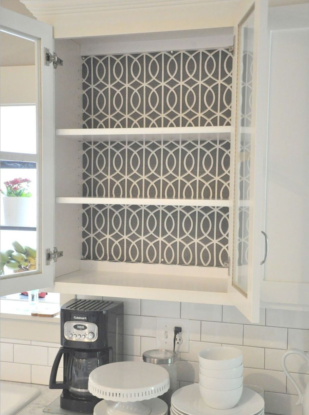 Makeover Your Kitchen Cabinets For More Storage And More Floor Space Home To Z Glass Front Cabinets Kitchen Renovation Diy Kitchen