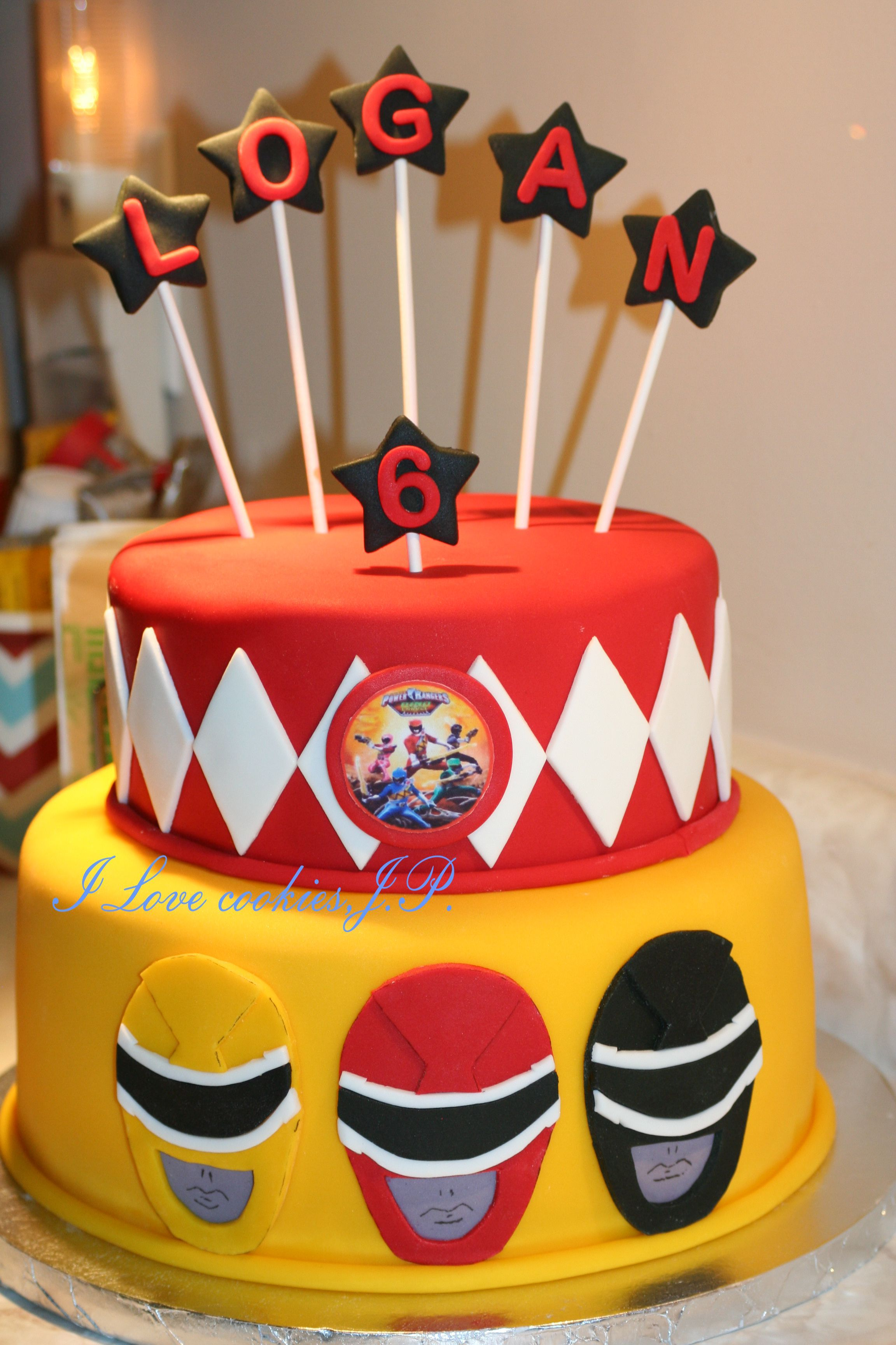 Power Rangers cake Cakes Pinterest Power ranger cake Cake