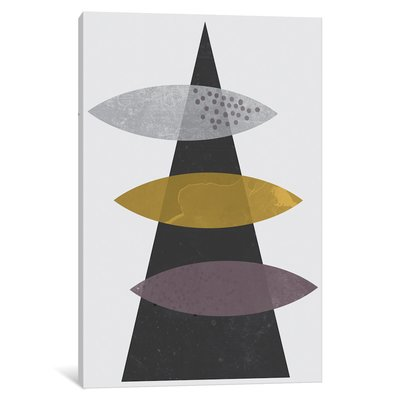 East Urban Home Ellipses Falling Graphic Art On Wrapped Canvas Size 40 H X 26 W X 1 5 D Geometric Art Prints Geometric Wall Art Geometric Poster