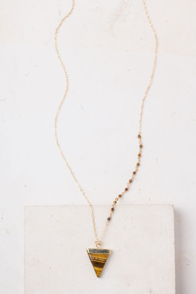 Parker Stone & gold necklace. Handmade by women who are beginning a new life at Starfish Project. When you buy Starfish Project jewelry, you are investing in our mission to transform lives and restore hope to exploited women.