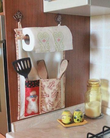 Diferentes y originales manualidades de cocina en tela - Organizadores hogar ...