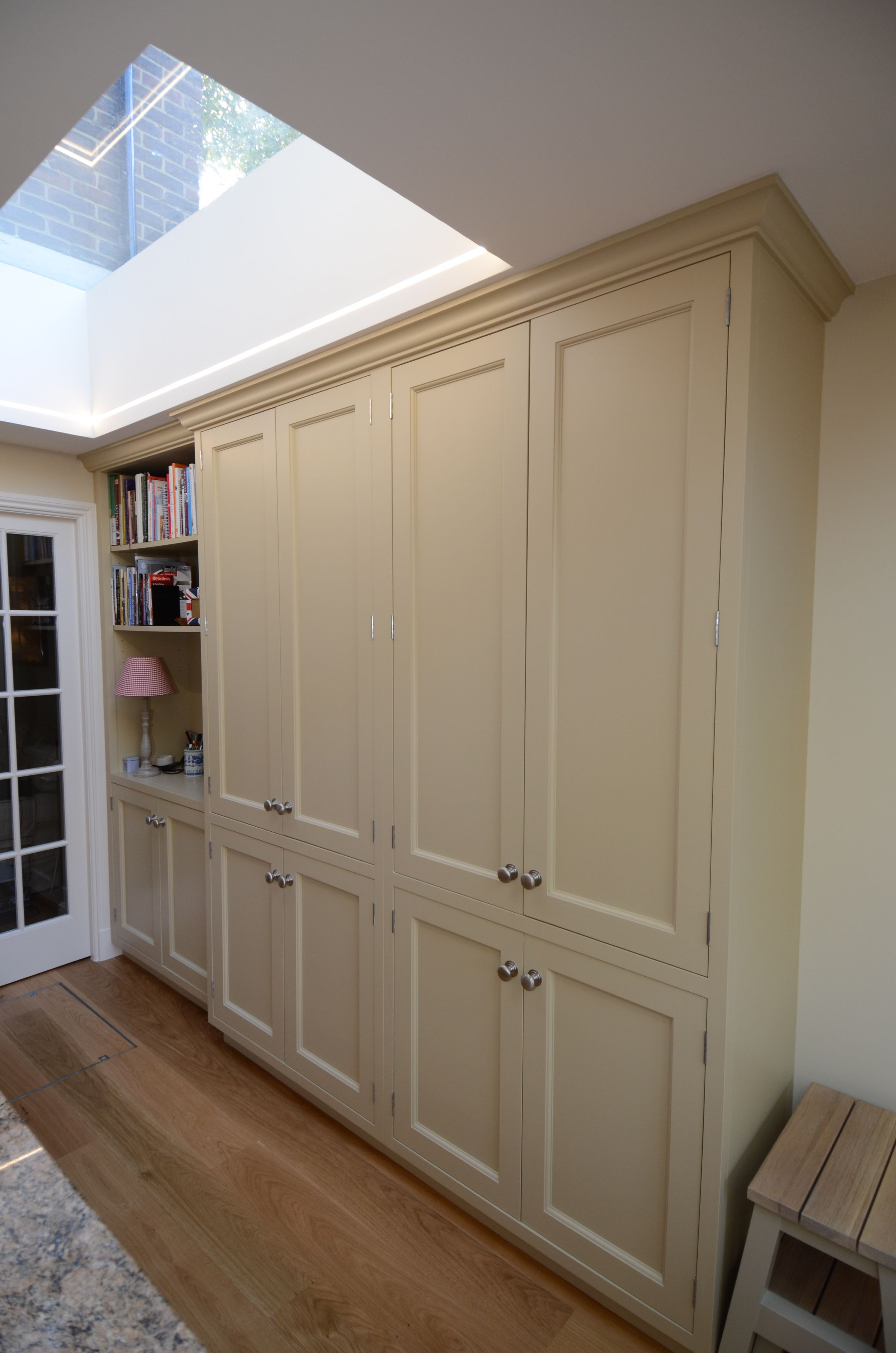 Large kitchen larder and bookcases. Spice racks on the ...