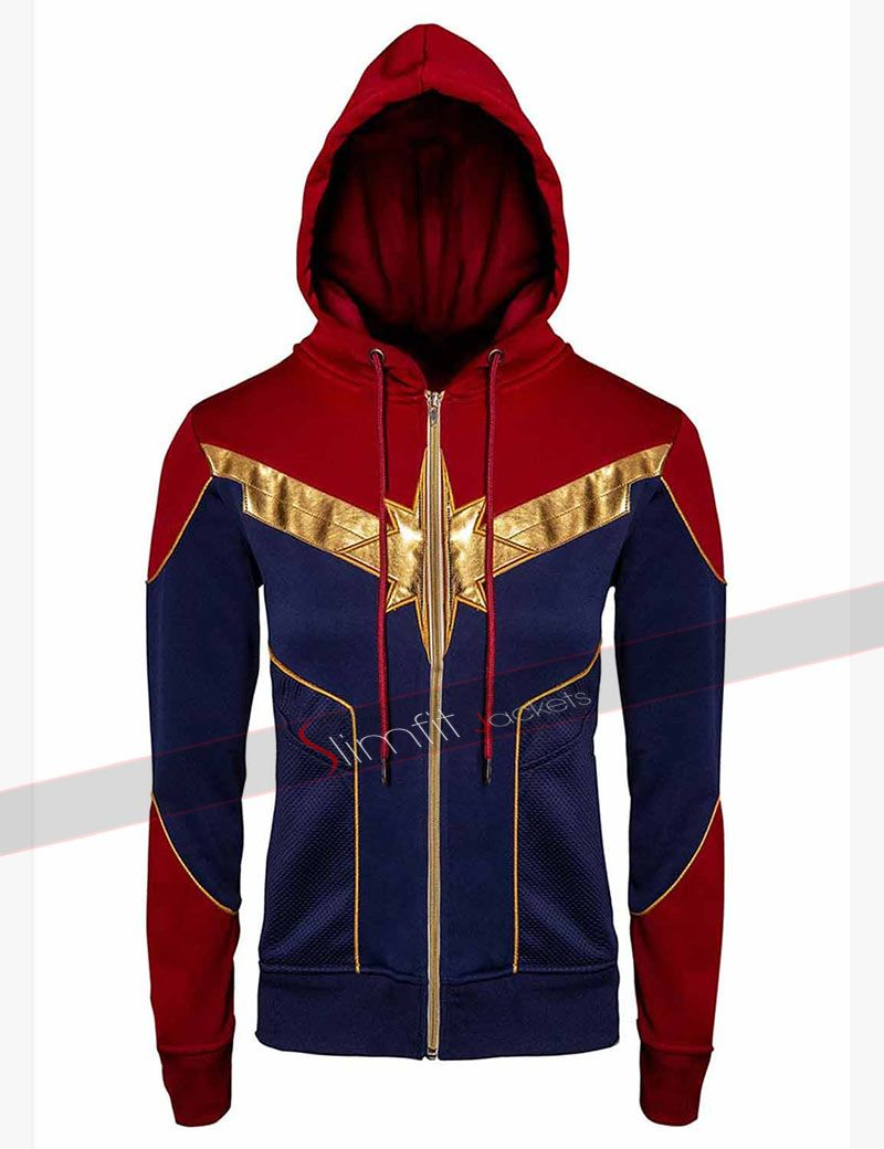 Carol Danvers Captain Marvel Red & Blue Hoodie Avengers