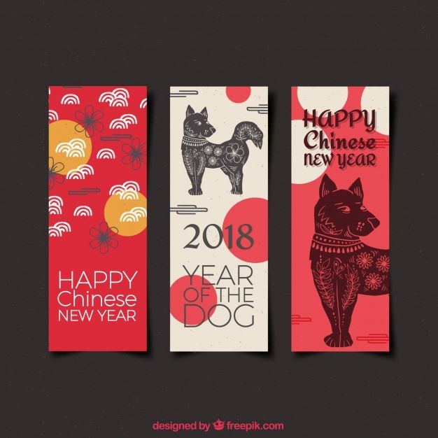 Download Watercolor Chinese New Year Banners for free