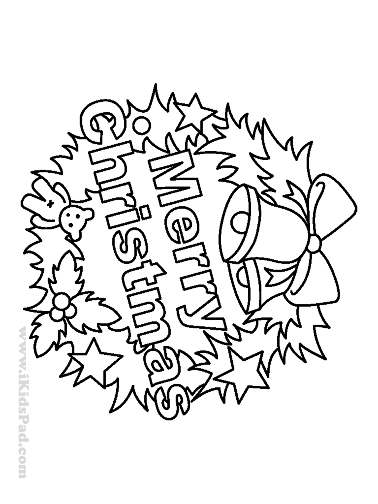 Free printable happy holiday coloring book for kids ...