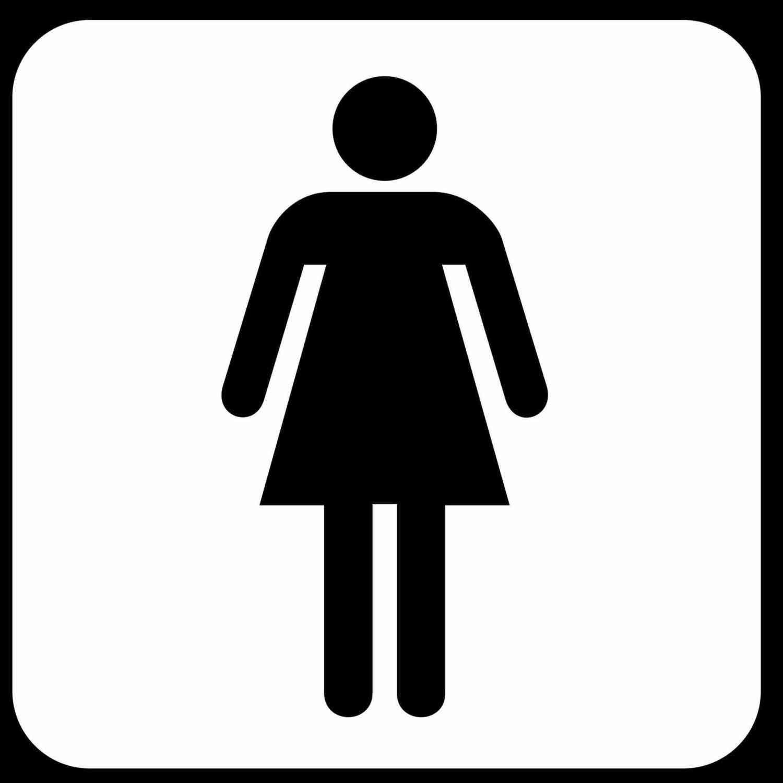 New Post men women bathroom sign