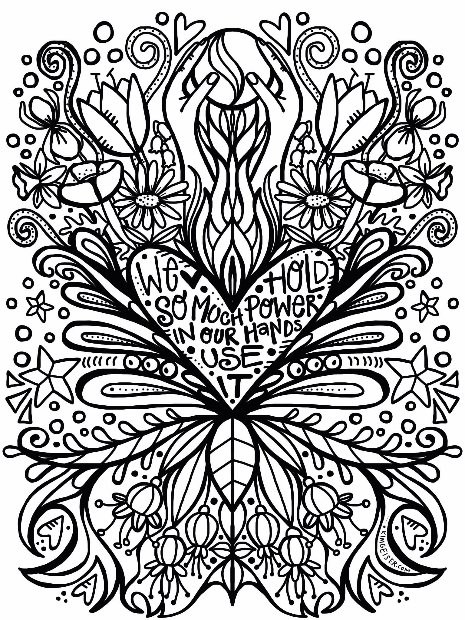 Free March Coloring Page Coloring Pages Heart Healthy Dinners Colouring Art Therapy