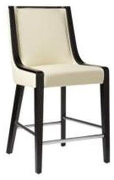Candy Off White Leather Counter Height Stool Modern Bar Stools