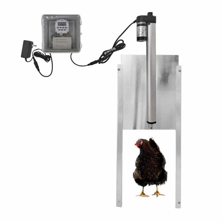 Jvr Automatic Door Coop Opener 12v Dc Power Automatic Door Opener Automatic Chicken Coop Door Best Chicken Coop