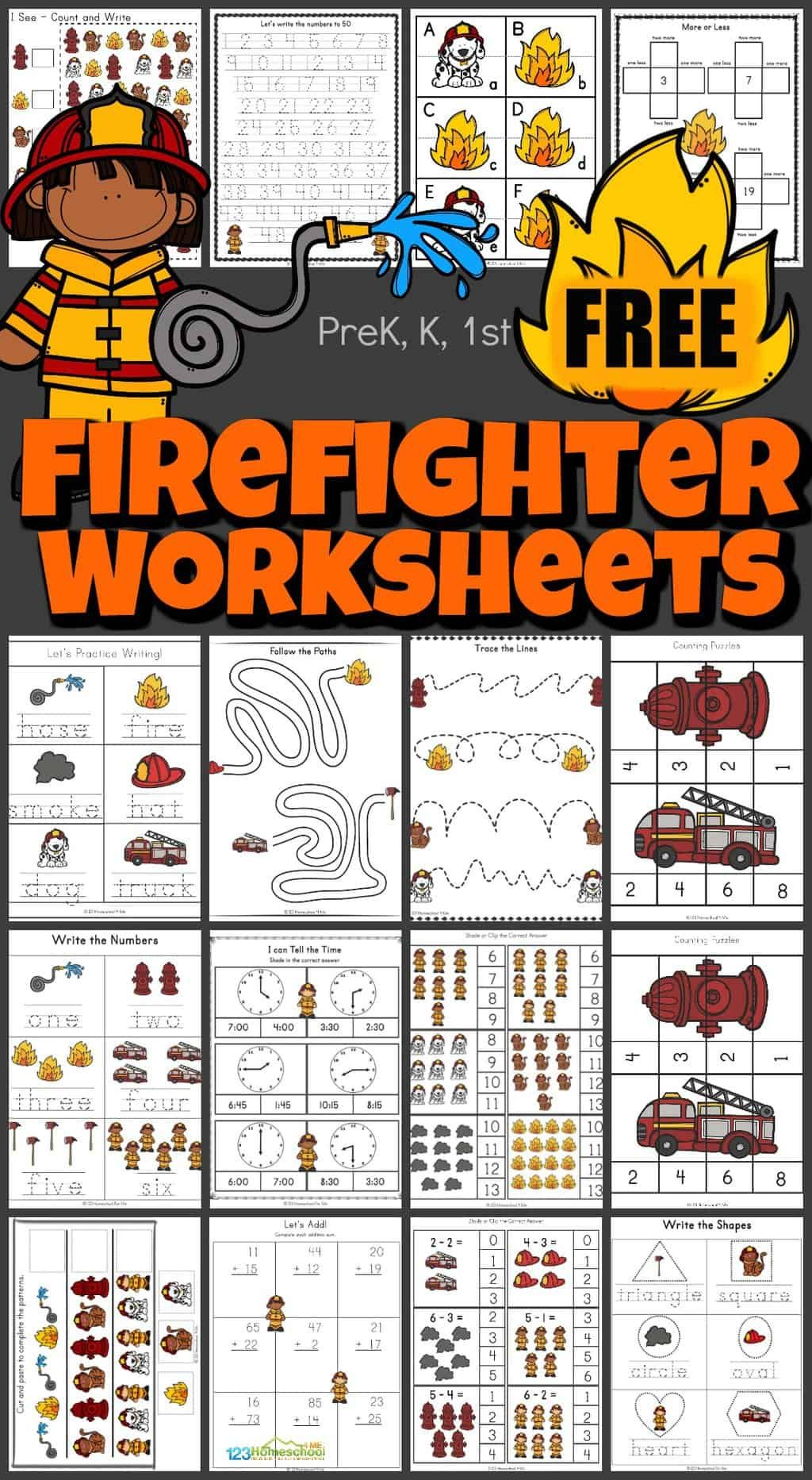 Free Firefighter Worksheets In