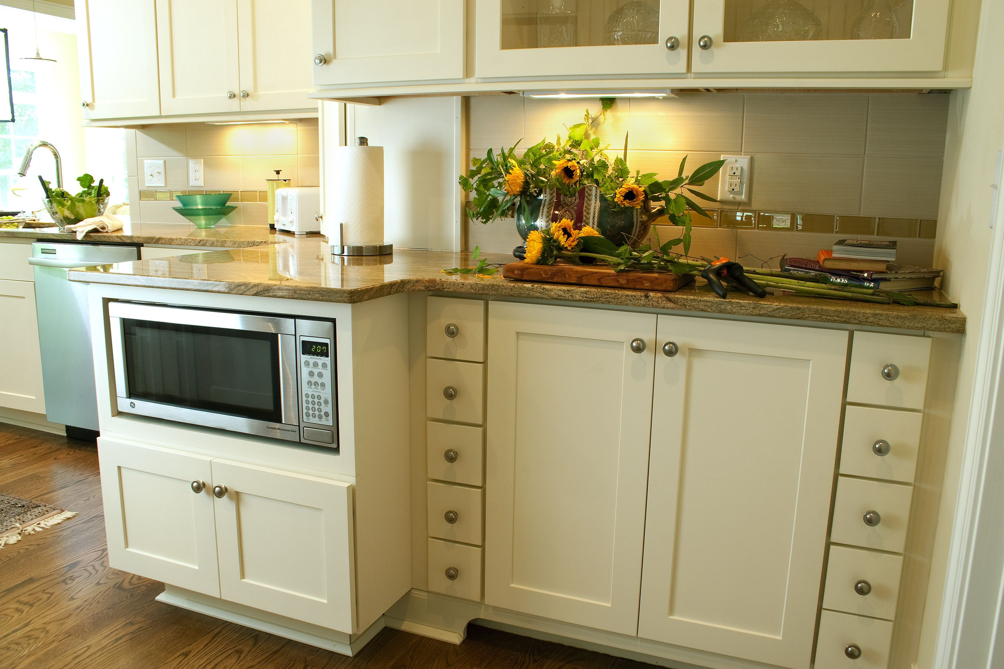 Rockford Painted Linen Shaker Undercounter Microwave Cabinets Inspiration Hardware Kitchen Cabinets Design Inspiration