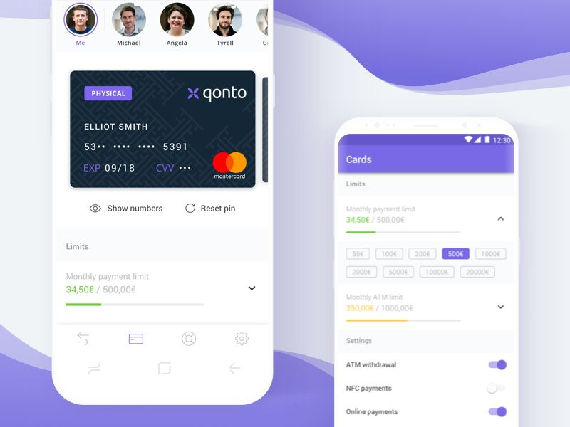 Cards Qonto Android Cards Material Design Android