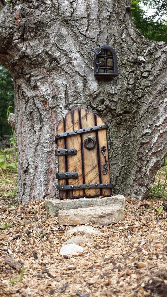 Hobbit door with window | Etsy