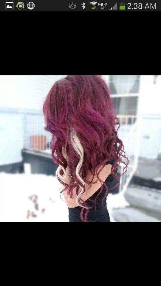 Pin By Cassidy Merritt On Hair Styles Pinterest Burgundy Hair