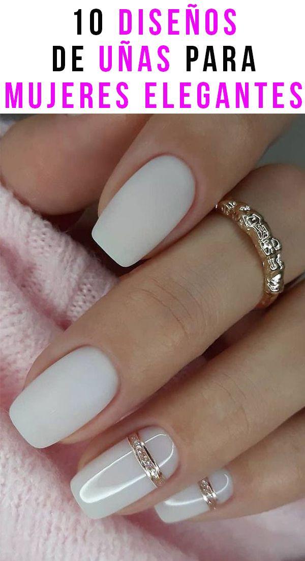 10 diseños de uñas para mujeres elegantes