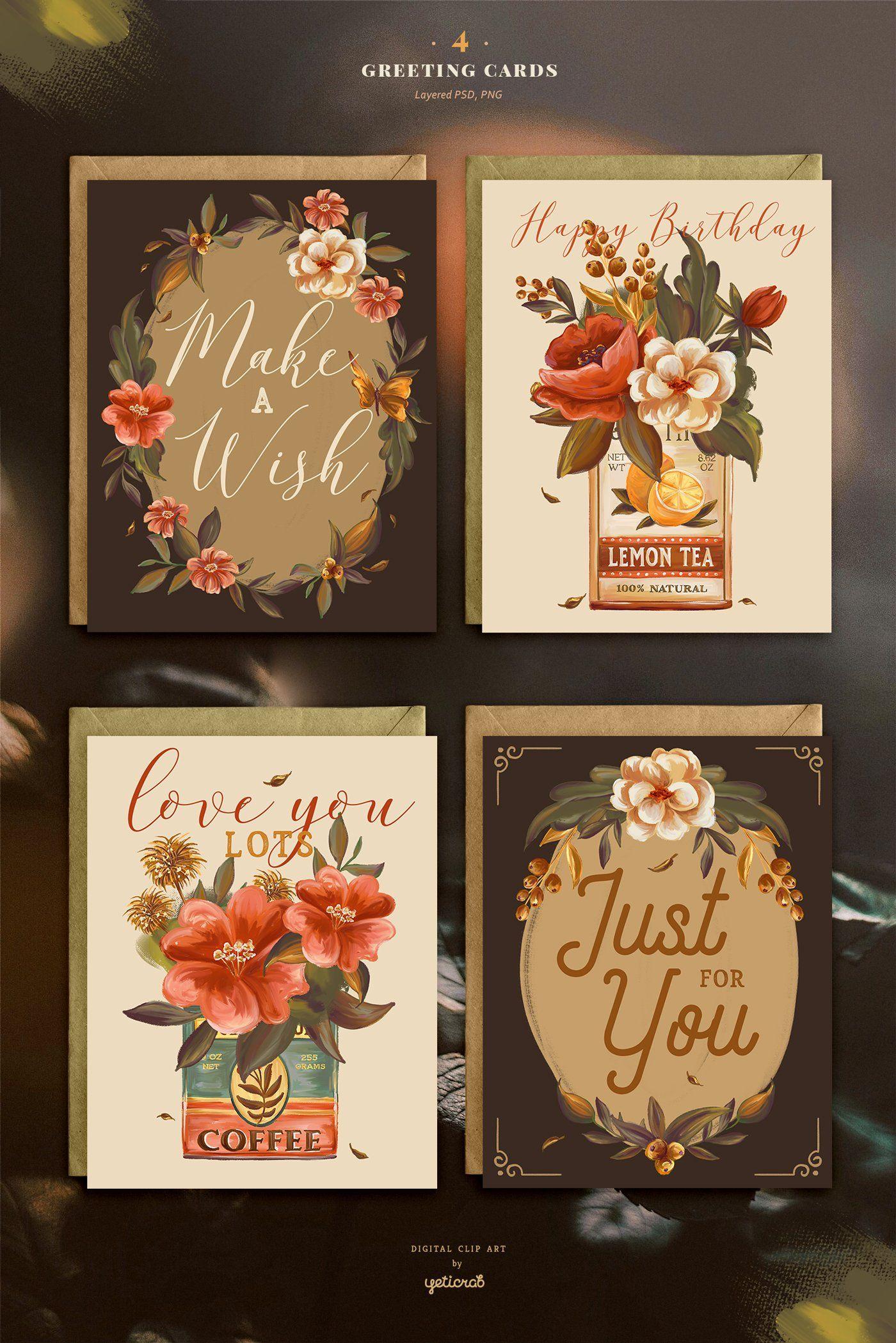 Vintage Tins Flowers Graphic Set Flower Graphic Tin Flowers Vintage Tins
