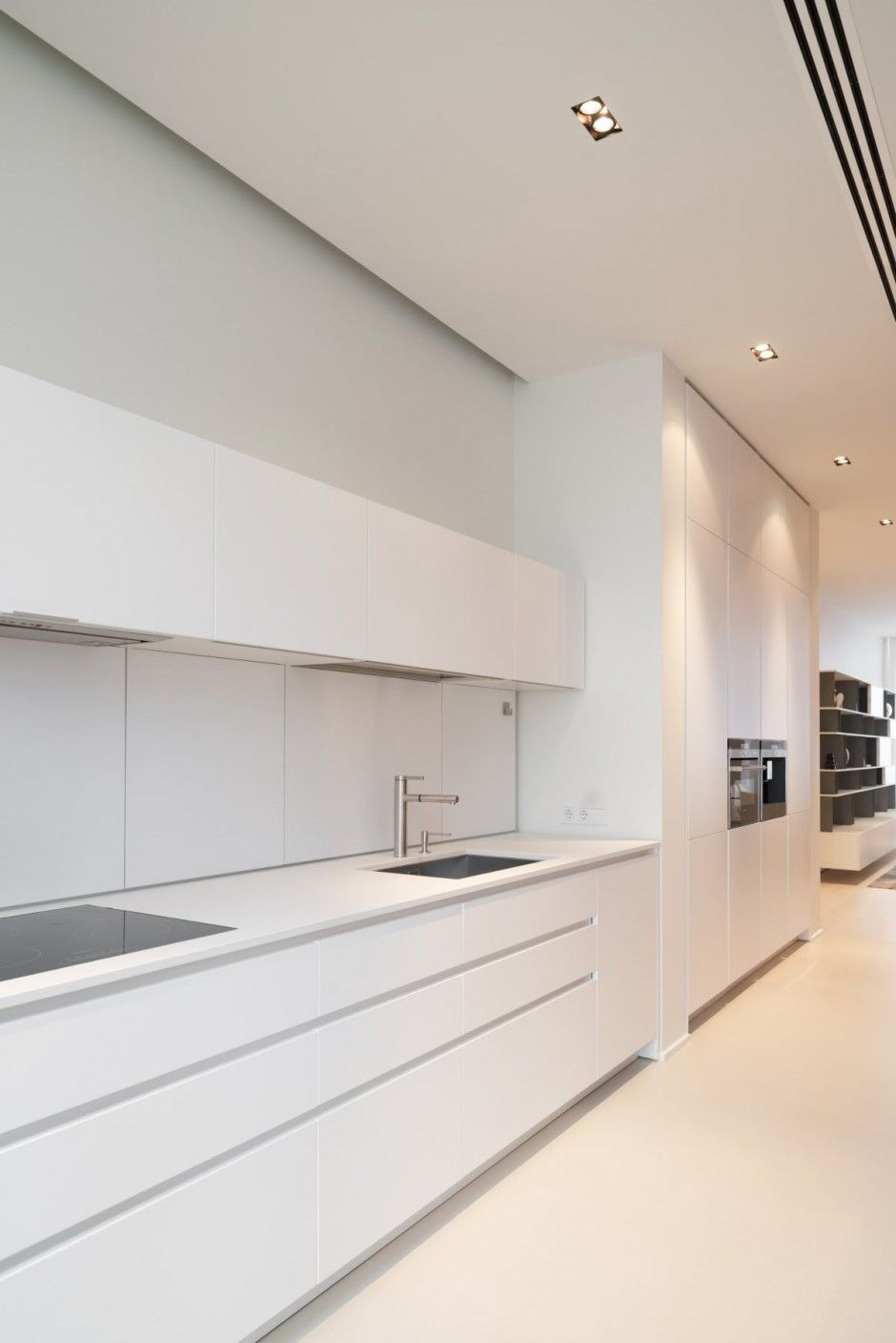 All white kitchen - super contemporary | Kitchens | Pinterest ...