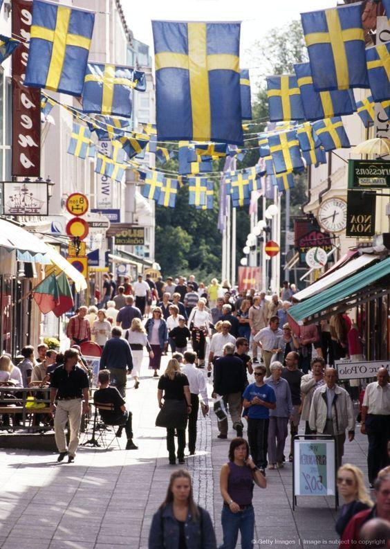 Downtown In Gothenburg Vastra Gotalands Lan Sweden Goteborg