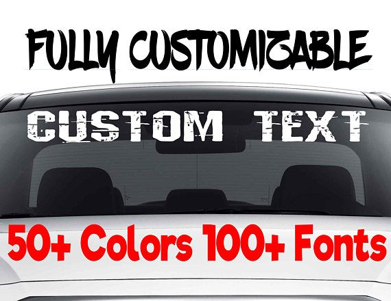 Custom windshield decals word and number car papergoods etsymktgtool cardecalforwomen customcardecal