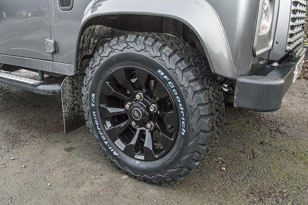 16x7 Saw Tooth Style Black Alloy Wheel Paddock Spares Land Rover Wheel Custom Wheels