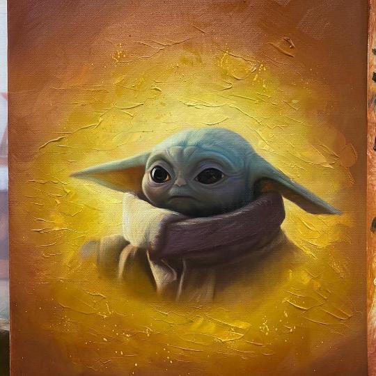 Handcraft Wall Decor Star Wars Ahsoka Oil Painting on Canvas Star Wars Fan Art 100/% handmade Movie Art
