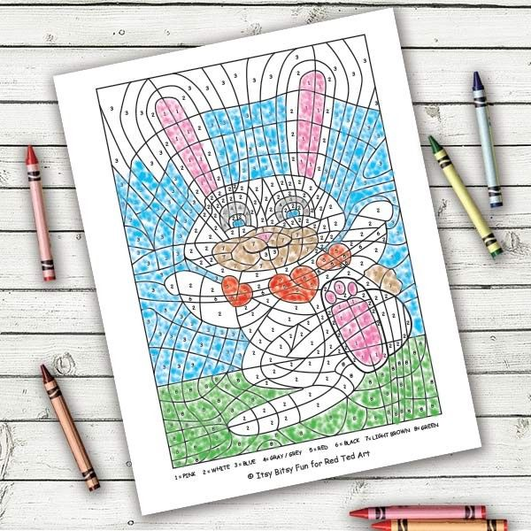 Valentine\'s Day Colouring by Numbers Pages | Number, Easter and Holidays