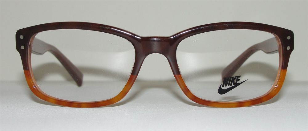 New Authentic Nike Eyeglasses 7202 225 Brown Horn Retro Glasses | eBay
