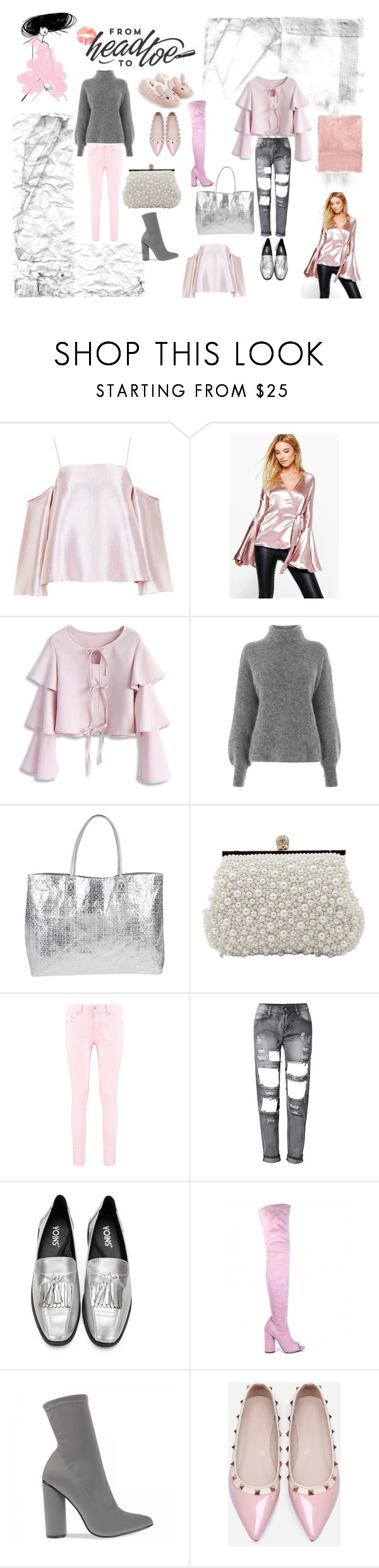 """""""Head to toe"""" by julianaardenius on Polyvore featuring Topshop, Boohoo, Chicwish, Warehouse, Armitage Avenue, WithChic, Accessorize and Rothko"""