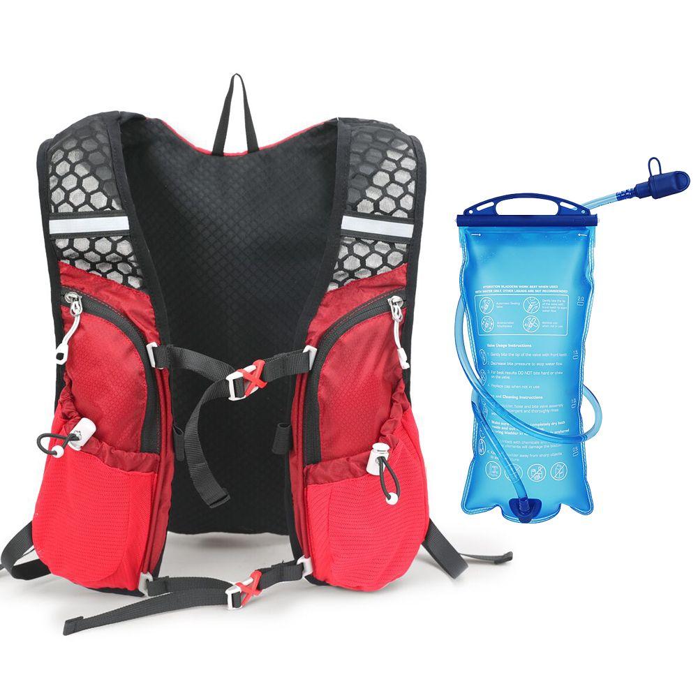 Cycling Marathon Running Vest Hydration Pack Backpack Hiking 2LWater Bladder Bag