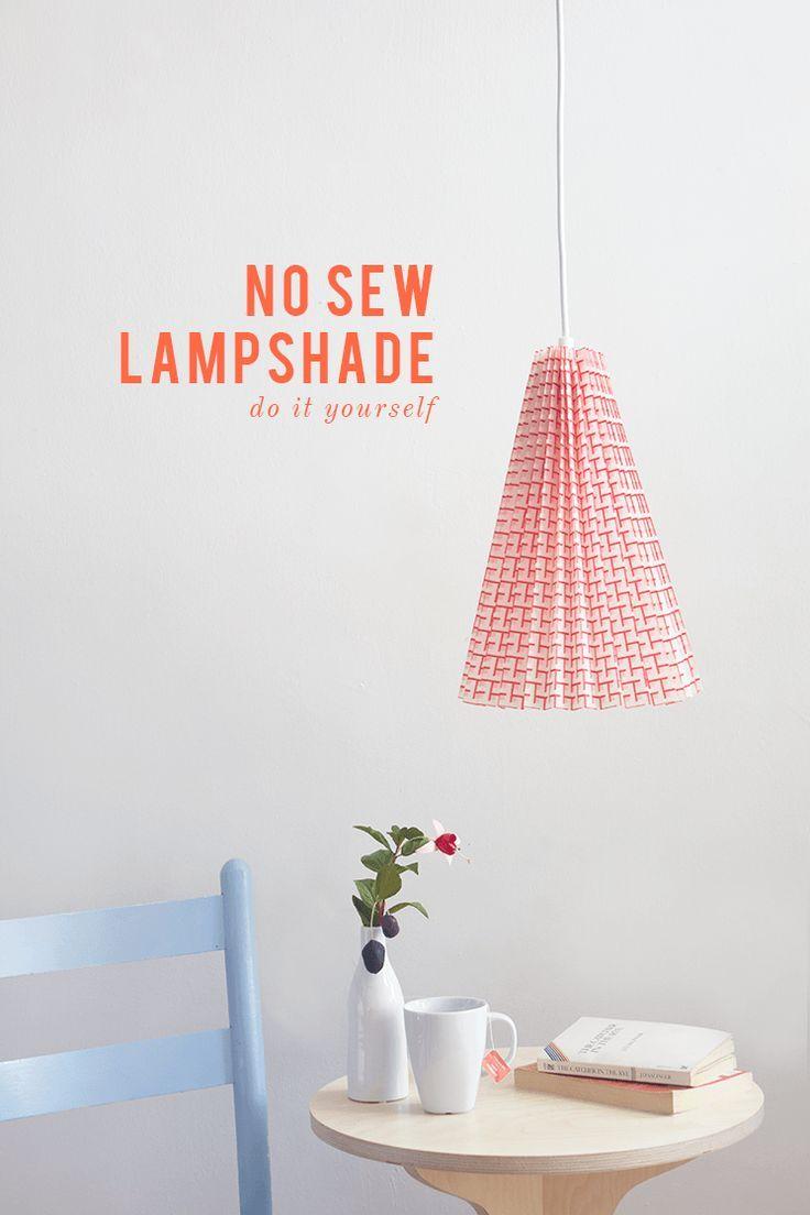 Diy no sew fabric pleated pendant lamp fabrics diys and fat diy no sew fabric lamp solutioingenieria Gallery