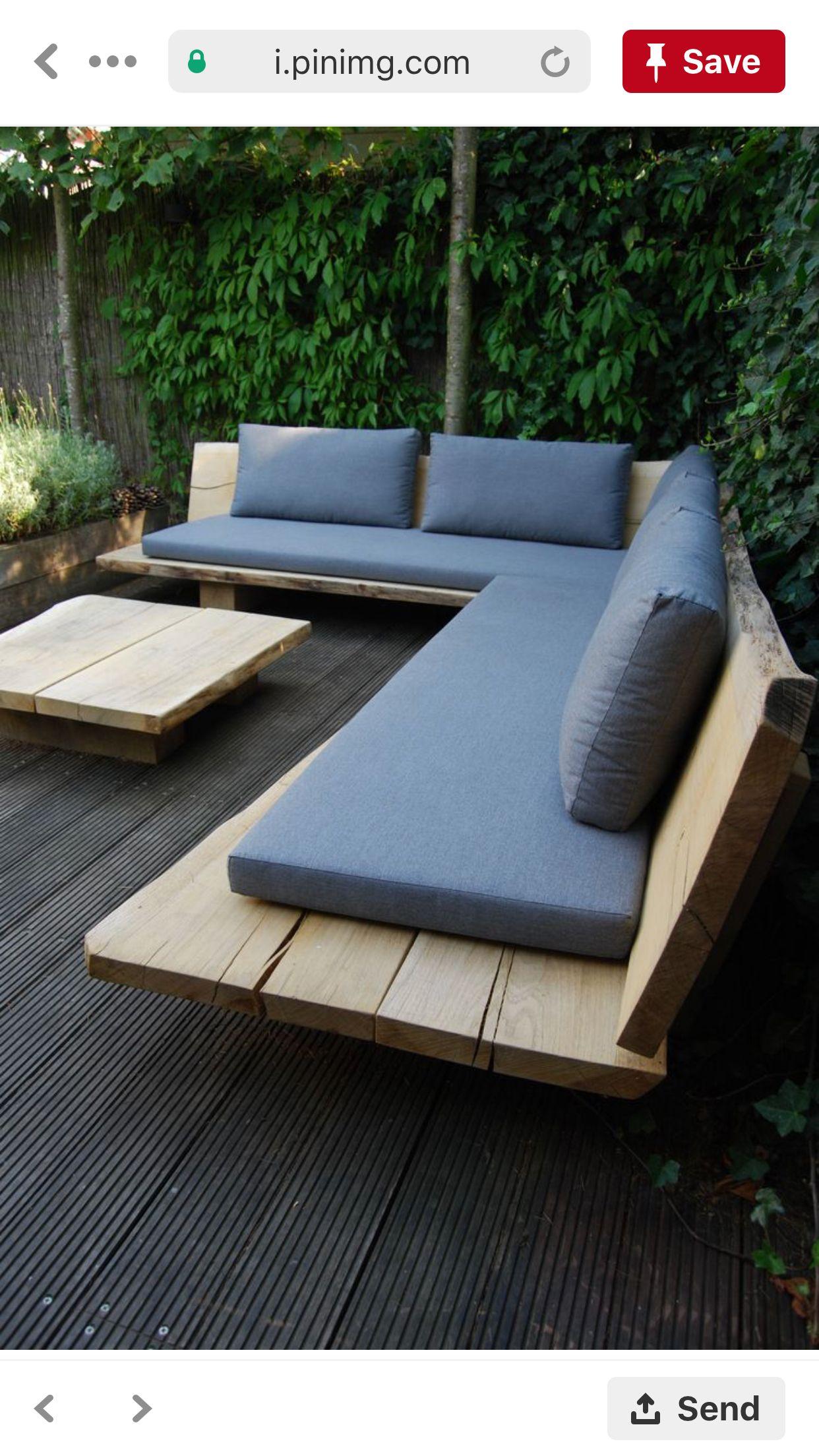 Outdoor Seating Holzbank Garten Garten Couch Gartensofa