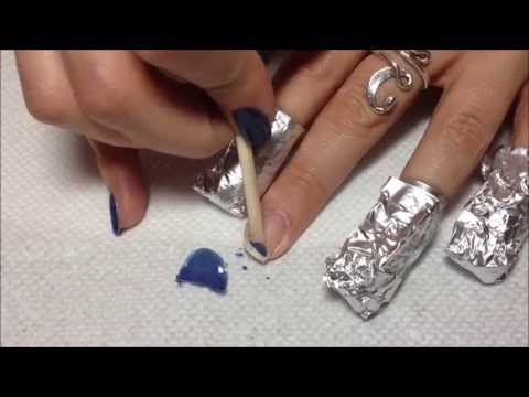 Video How To Remove Gel Nail Polish From Home Remove Gel Polish Gel Nail Removal Acrylic Nail Tips